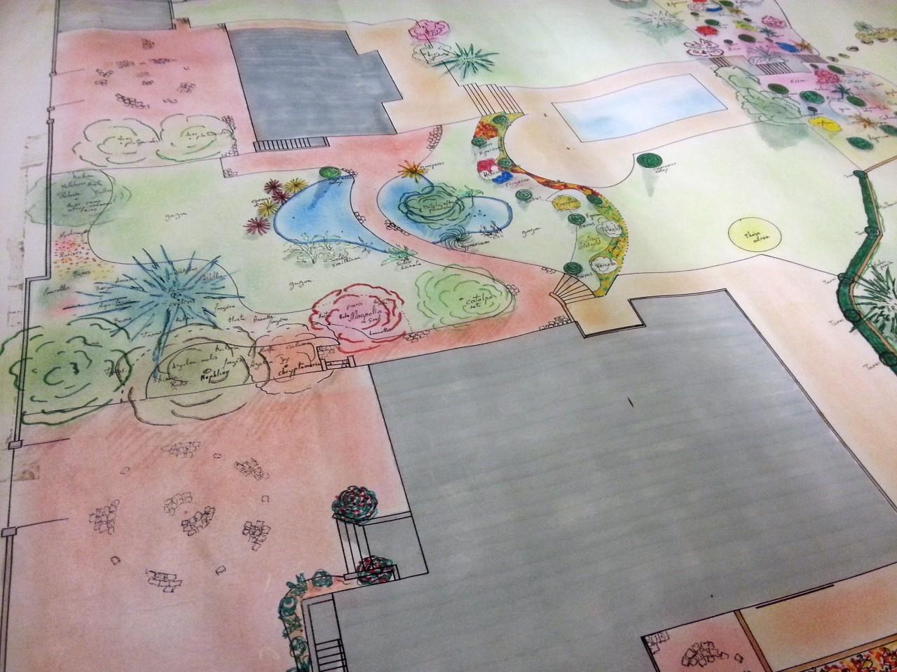 Jardins d'une villa de haut-standing