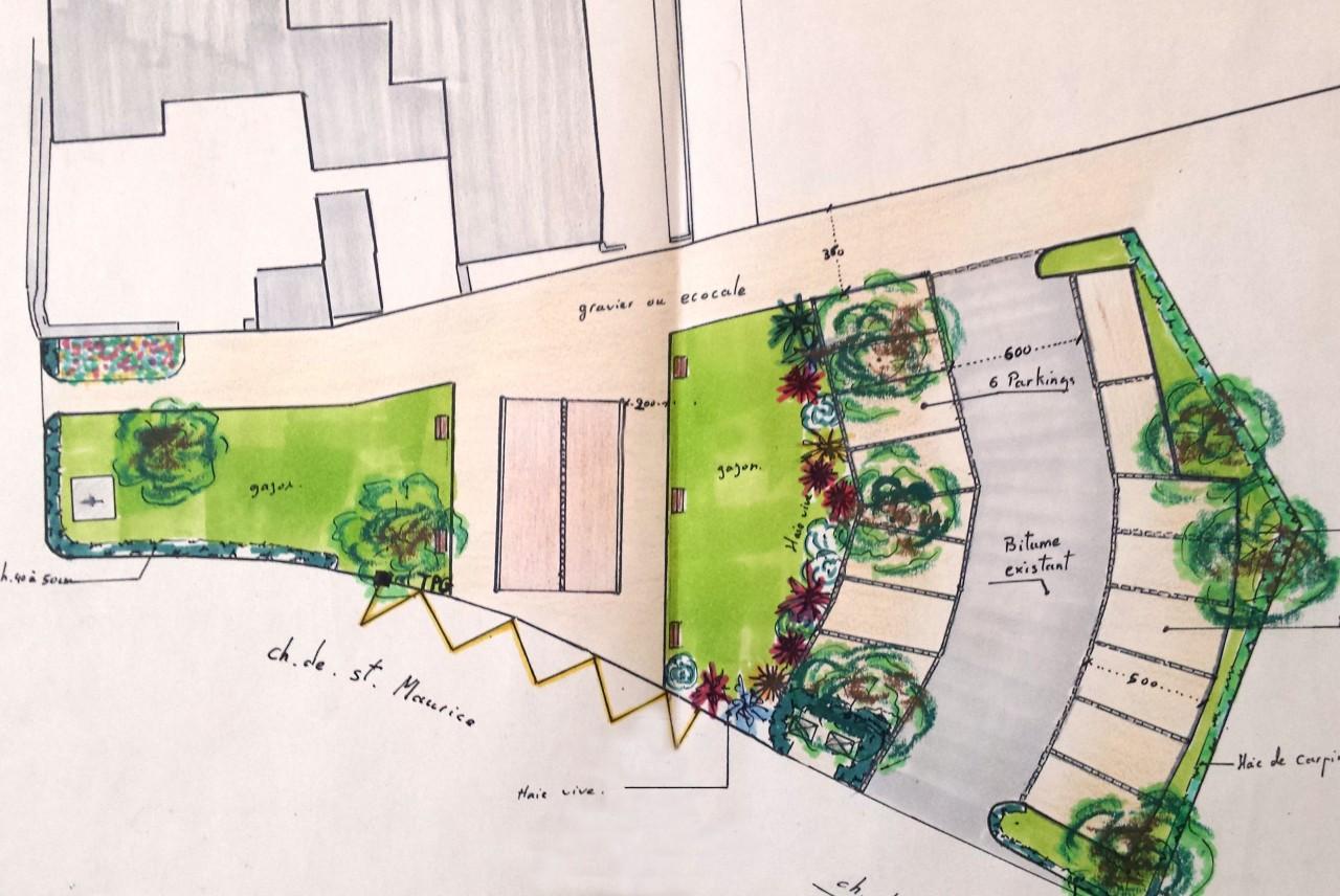 Projet de création d'un parking vert en terrain communal