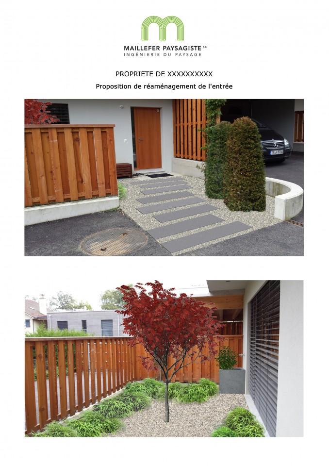 Projet d'aménagement d'une entrée